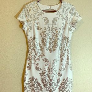 White Sequence Dress